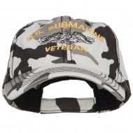 US Submarine Veteran Military Embroidered Enzyme Camo Cap - City