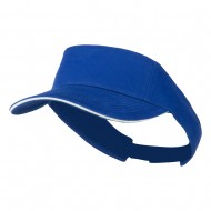 Brushed Cotton Twill Sandwich Visor - Royal