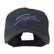 Ski Wording in Cursive Embroidered Cap - Navy