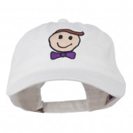 Smile Dad Embroidered Washed Cap - White