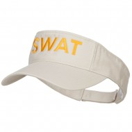 SWAT Embroidered Cotton Washed Visor - Stone