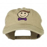 Smile Dad Embroidered Washed Cap - Khaki