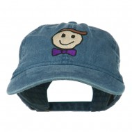 Smile Dad Embroidered Washed Cap - Navy