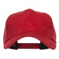Structured Faux Suede Cap - Red