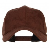 Structured Faux Suede Cap - Brown
