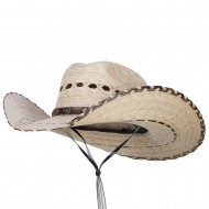 Mexican Style Wide Brim Safari Hat - Natural