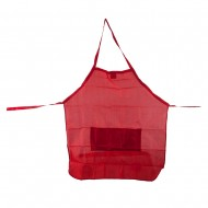 Stylist Apron with Waist Tie String - Red