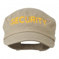 Security Embroidered Enzyme Army Cap - Khaki