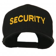 Security Letter Embroidered High Profile Cap - Black