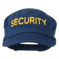 Security Embroidered Enzyme Army Cap - Navy