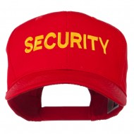 Security Letter Embroidered High Profile Cap - Red