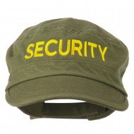Security Embroidered Enzyme Army Cap - Olive