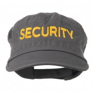 Security Embroidered Enzyme Army Cap - Grey