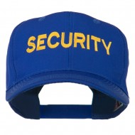Security Letter Embroidered High Profile Cap - Royal