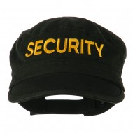 Security Embroidered Enzyme Army Cap - Black