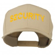 Security Letter Embroidered High Profile Cap - Khaki