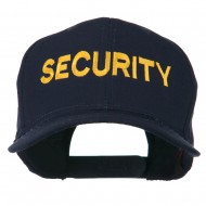 Security Letter Embroidered High Profile Cap - Navy
