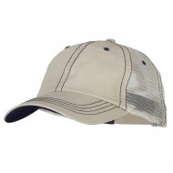 Big Size Special Cotton Low Profile Trucker Cap - Putty