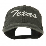 US Mid State Texas Embroidered Washed Cap - Black