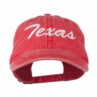 US Mid State Texas Embroidered Washed Cap - Red