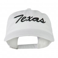 US Mid State Texas Embroidered Washed Cap - White