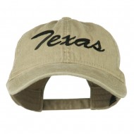 US Mid State Texas Embroidered Washed Cap - Khaki