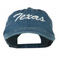 US Mid State Texas Embroidered Washed Cap - Navy