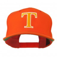 Greek Alphabet Tau Embroidered Cap - Orange