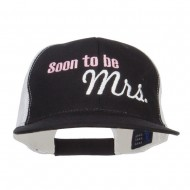 Soon To Be Mrs Embroidered Mesh Cap - Black