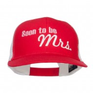 Soon To Be Mrs Embroidered Mesh Cap - Red