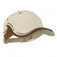 Two Tone Corduroy Cap - Putty Brown