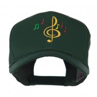 Treble Clef with Notes Embroidered Cap - Green