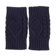 6 Inches Knit Hand Warmer - Navy