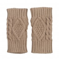 6 Inches Knit Hand Warmer - Taupe