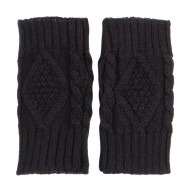 6 Inches Knit Hand Warmer - Black