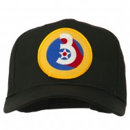 3rd Air Force Division Patched Cap - Black