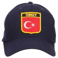 Turkey Flag Shield Patched Cap - Navy