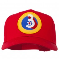 3rd Air Force Division Patched Cap - Red