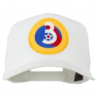 3rd Air Force Division Patched Cap - White