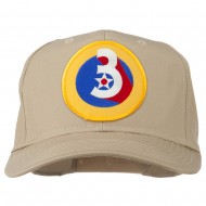 3rd Air Force Division Patched Cap - Khaki