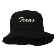Texas Embroidered Pigment Dyed Bucket Hat - Black