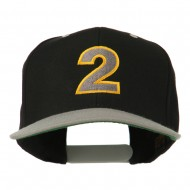 Arial Number 2 Embroidered Classic Two Tone Cap - Black Silver