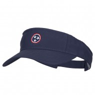 Tennessee Flag Logo Embroidered Pro Style Cotton Washed Visor - Navy
