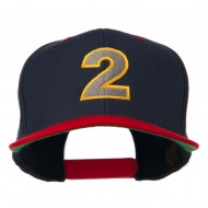 Arial Number 2 Embroidered Classic Two Tone Cap - Navy Red