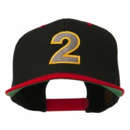Arial Number 2 Embroidered Classic Two Tone Cap - Black Red
