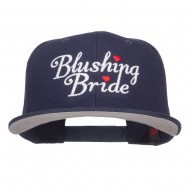 Blushing Bride Embroidered Cotton Snapback - Navy