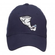 Tornado Embroidered Youth Brushed Cap - Navy