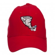 Tornado Embroidered Youth Brushed Cap - Red