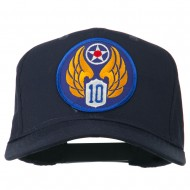 10th Air Force Division Patched Cotton Cap - Navy
