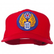 10th Air Force Division Patched Cotton Cap - Red